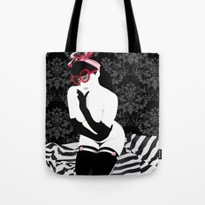 PinUp Preppie Girl Tote Bag