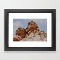 Rock in my way Framed Art Print