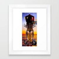 SUN SET PART II Framed Art Print
