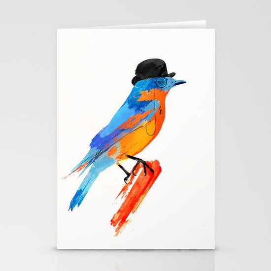 Lord Birdy Stationery Card