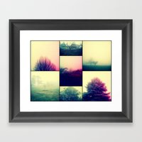 Foggy Impact Framed Art Print