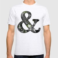 Ampersand Series - Baskerville Typeface Mens Fitted Tee Ash Grey SMALL