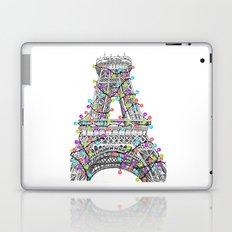 Paris Eiffel Tower Holiday Lights Multi Laptop & iPad Skin