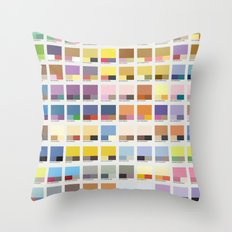 Poke-Pantone 1 (Kanto Re… Throw Pillow