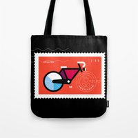 Postcards from Amsterdam / Bicycle Tote Bag