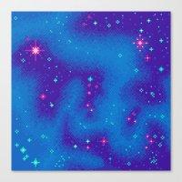 Indigo Nebula (8bit) Canvas Print