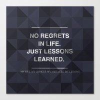 No Regrets 3 Canvas Print