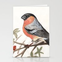 Eurasian Bullfinch Bird Stationery Cards