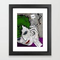 David Bowie As The Joker Framed Art Print