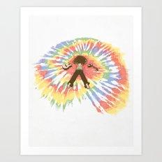 Tie Die Art Print