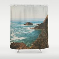 Shower Curtain featuring Oregon Coast by Leah Flores