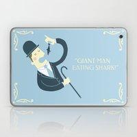 Giant man eating shark!! Laptop & iPad Skin