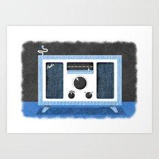 Radio Retro Art Print