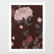 Big Rose Pattern  Art Print