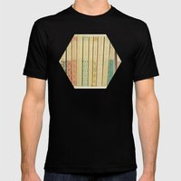 Old Books Mens Fitted Tee Black SMALL
