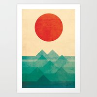 sea Art Prints featuring The ocean, the sea, the wave by Picomodi