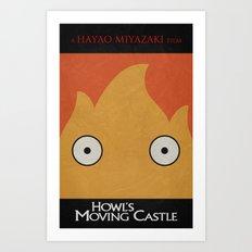 Howl Castle Poster Art Print