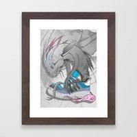 Sneaker Monster Framed Art Print