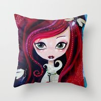 Red Portrait Throw Pillow