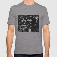 Skeleton Mens Fitted Tee Tri-Grey SMALL