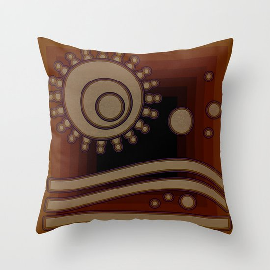 retro sun Throw Pillow