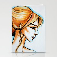 blonde girl Stationery Cards