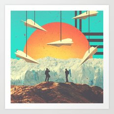 over.the.mount//ain Art Print