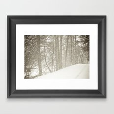 Stopping by a Snowy Woods Framed Art Print