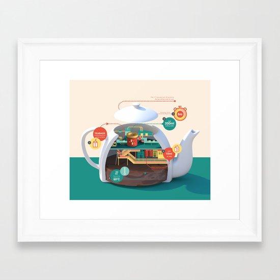 How to make the best pot of tea Framed Art Print