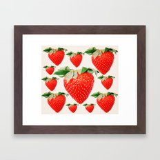 strawberry explosion Framed Art Print