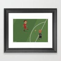 Gerrard Vs Olympiakos Framed Art Print