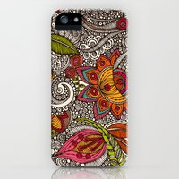 iPhone 5s & iPhone 5 Cases featuring Random Flowers by Valentina Harper