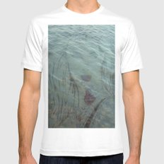 Lake Lady // Double Exposed SMALL White Mens Fitted Tee