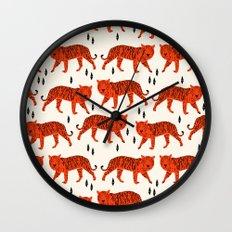 Tiger by Andrea Lauren Design Wall Clock