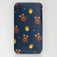 iPhone 3Gs & iPhone 3G Cases featuring Honey Bear Bee and Fun by meertau