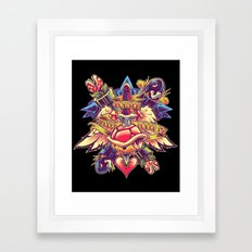 BOWSER NEVER LOVED ME Framed Art Print
