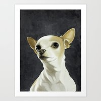 KC the Dog Art Print