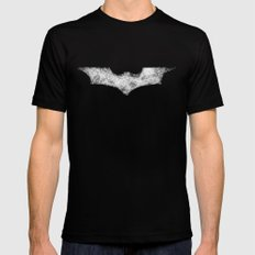 Superhero abstract logo SMALL Black Mens Fitted Tee