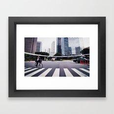Bicycle Commute in Tokyo Framed Art Print