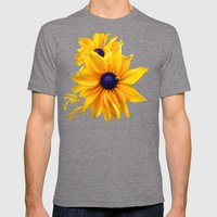 Earthy Sun Mens Fitted Tee Tri-Grey SMALL