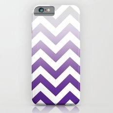 PURPLE FADE TO GREY CHEVRON Slim Case iPhone 6s