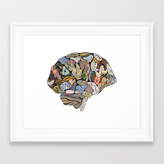 my brain looks different Framed Art Print