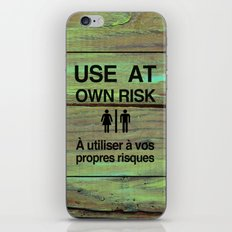Use At Own Risk2 - English / French iPhone & iPod Skin
