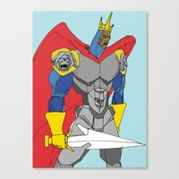 The Black Knight. Canvas Print