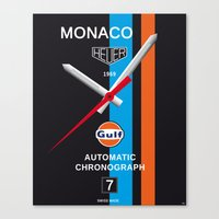 Monaco Tag Heuer Watch, Steve McQueen Le Mans Vintage Poster Decoration Canvas Print