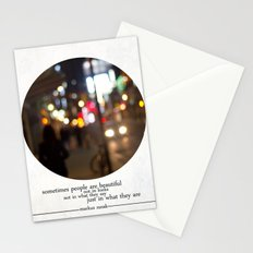 people are beautiful Stationery Cards