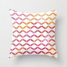 Sunset Geometric  Throw Pillow