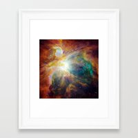 Framed Art Prints featuring Nebula by Color and Patterns