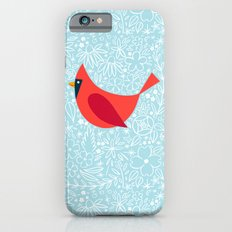 Cardinal Flowers, Carolina Blue iPhone 6 Slim Case