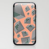 Mint And Gray Diamond On… iPhone & iPod Skin